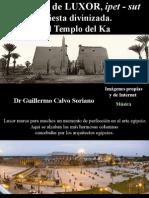 El Templo de Luxor, ipet - sut,la fiesta divinizada. El Templo del Ka