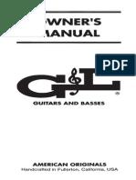 G&L Manual de Instruções