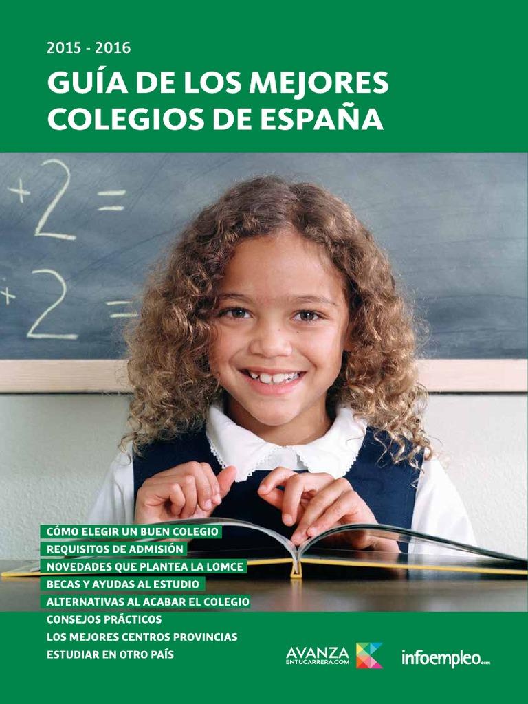 Guía de Los Mejores Colegios de España 2015-2016 43800b858d475