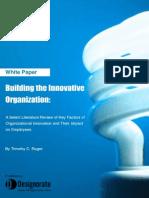 Building The Innovative Organization