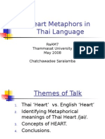 Heart Metaphors in Thai