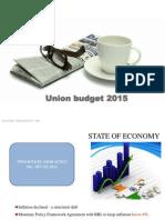 Union Budget 2015- A brief Analysis