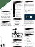 2015 Spring Sprint Brochure