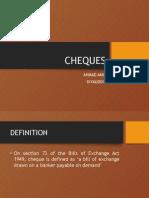 Cheques Presentation