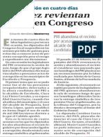 03-03-2015 Otra vez revientan  sesión en Congreso