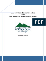 DHHS Approved Plan of Correction for Lakeview