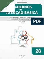 ACOLHIMENTO DEMANDA ESPONTÂNEA