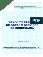 Banco de Obras e Serviços de Engenharia Fev13