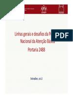 Lei 2488 de 2011 Politica de Atenção Basica