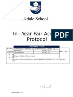 In Year Fair Access Policy