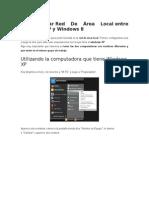 red entre Windows 8 y Windows xp