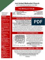 Newsletter for February 2015