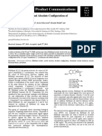 Solid State Structure and Absolute Configuration of Filifolinol Acetate