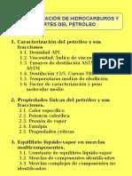 Tema 4.- Caracterización de hidrocarburos y cortes de petroleo
