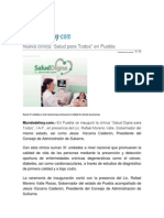 25-02-2015 MundodeHoy,Com - Nueva Clínica Salud Para Todos en Puebla