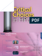 Critical Choices in HPLC