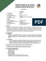 Estructura y Modelo de Sílabo Comunic.lyl 2014
