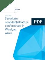 Securitate confidentialitate si conformitate in Windows Azure