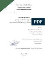 Indrumar Practica Anul II 2014-2015