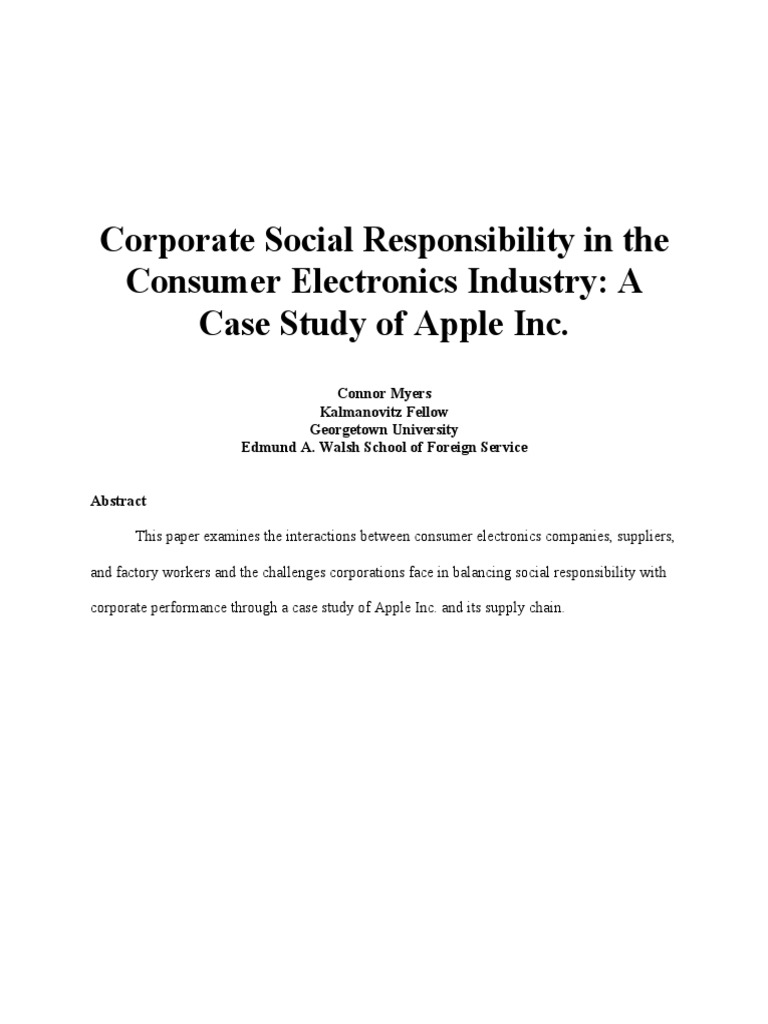 apple corporate social responsibility
