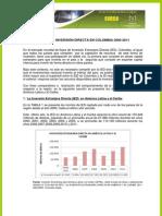 Flujos de Inversión Directa en Colombia 2000-2011