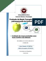 Produção de maçãs trangénicas, com sobreexpressão de antioxidantes