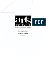 Baton Rouge Arts Council audit 2013