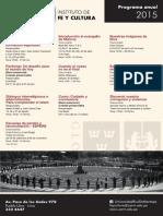 Actividades del Instituto de Fe y Cultura -  2015