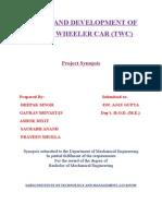 Synopsis- three wheeler car