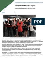 03-03-2015 trabaja ISM en Dar Oportunidades Laborales a Mujeres.