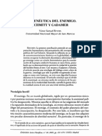 Rivera, Victor Samuel - Hermeneutica Del Enemigo. Schmitt y Gadamer