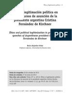 Ethos y legitimación política en los discurso de asunción de la presidente argentina Cristina Fernández de Kirchner