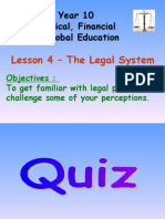 lesson 4 - the legal system