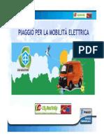 Piaggio e la Mobilita' elettrica - Longarone 2011