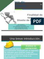 Finalidad de Operacion y Diseño de Las Partes