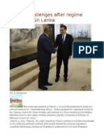 China's Challenges After Regime Change in Sri Lanka