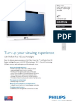 Philips Cineos Flat TV With Perfect Pixel