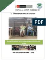 Plan Gestión Bosque Comunal CNI