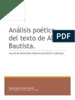 Análisis Poético Del Texto de María Elena Ponciano