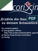 Schaustückausstellung der Konditor-Confiseure 2015 (Decorissima 2015 Geschichten)