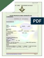 A- Ficha Inscrição Maçonaria Brasil
