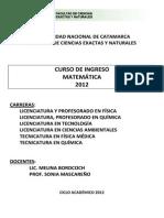 INGRESO Universidad de Catamarca