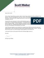 Open letter on abortion from Gov. Scott Walker