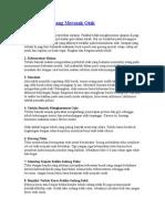 10 Kebiasaan Yang Merusak