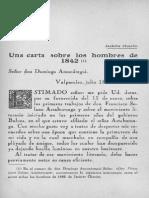 Carta Sobre Sociedad Literaria de 1842