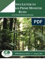 Lord Monckton's Open Letter to Australian Prime Minister Kevin Rudd, aka. Lu Kewan.