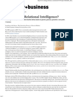 What's Your Relational Intelligence