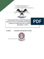 Conductividad Termica Relacionado Con La Porosidad - Ladrillos.