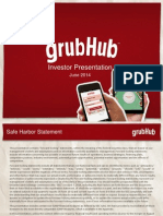GrubHub Investor Deck June 2014