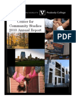 2010AnnualReport CenterForCommunityStudies Final